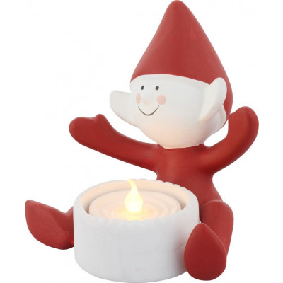 Deco Led Tea Light | Christmas Elf Happy
