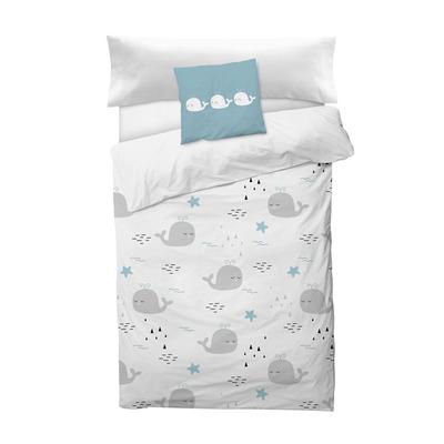 Bettbezug Deep I Weiß 155x220 + 110x45 cm