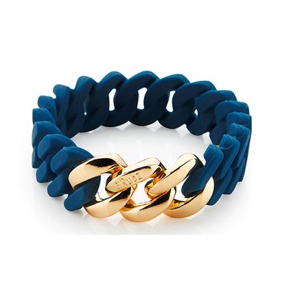 Classic Mini Bracelet 15 mm | Navy Blue & Gold