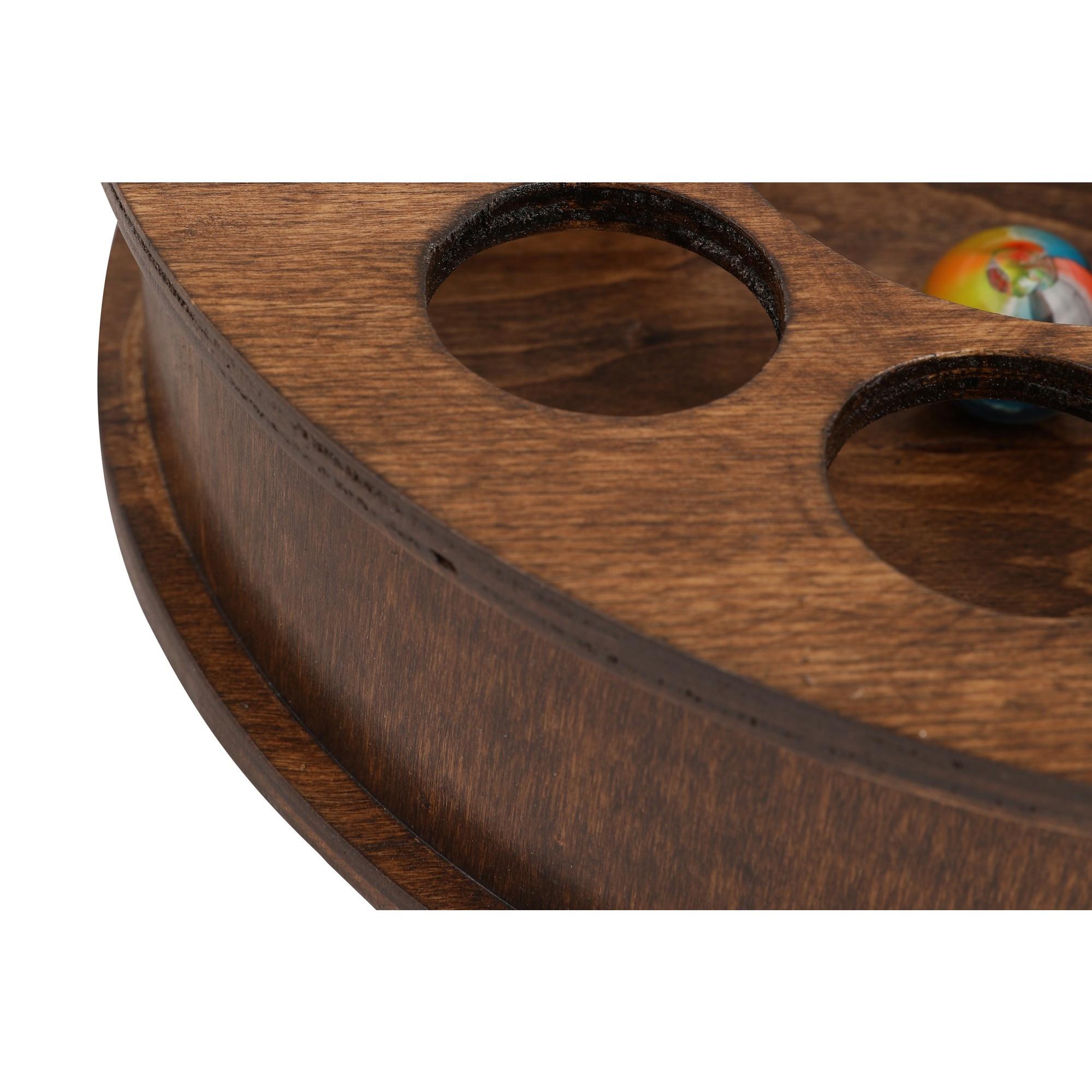 Katzenspielzeug | Dunkles Holz