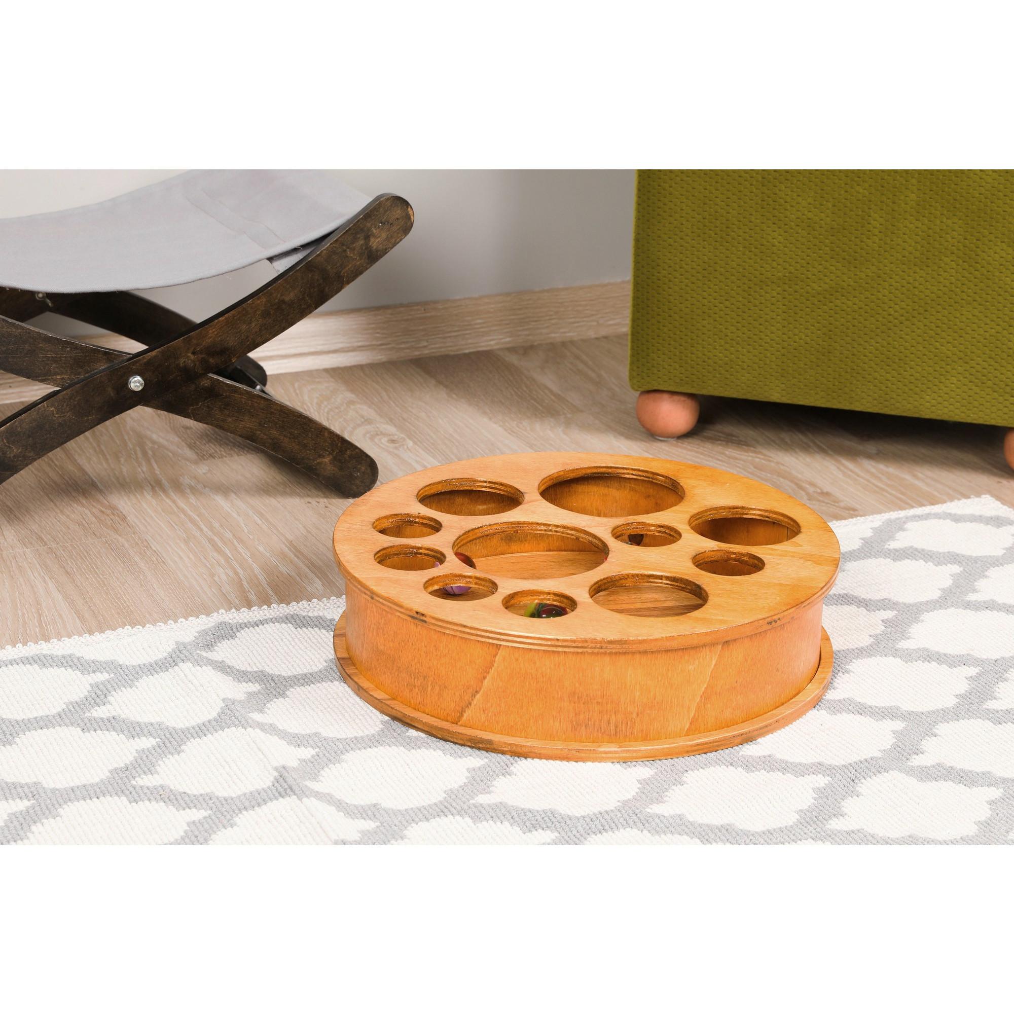 Katzenspielzeug   Helles Holz