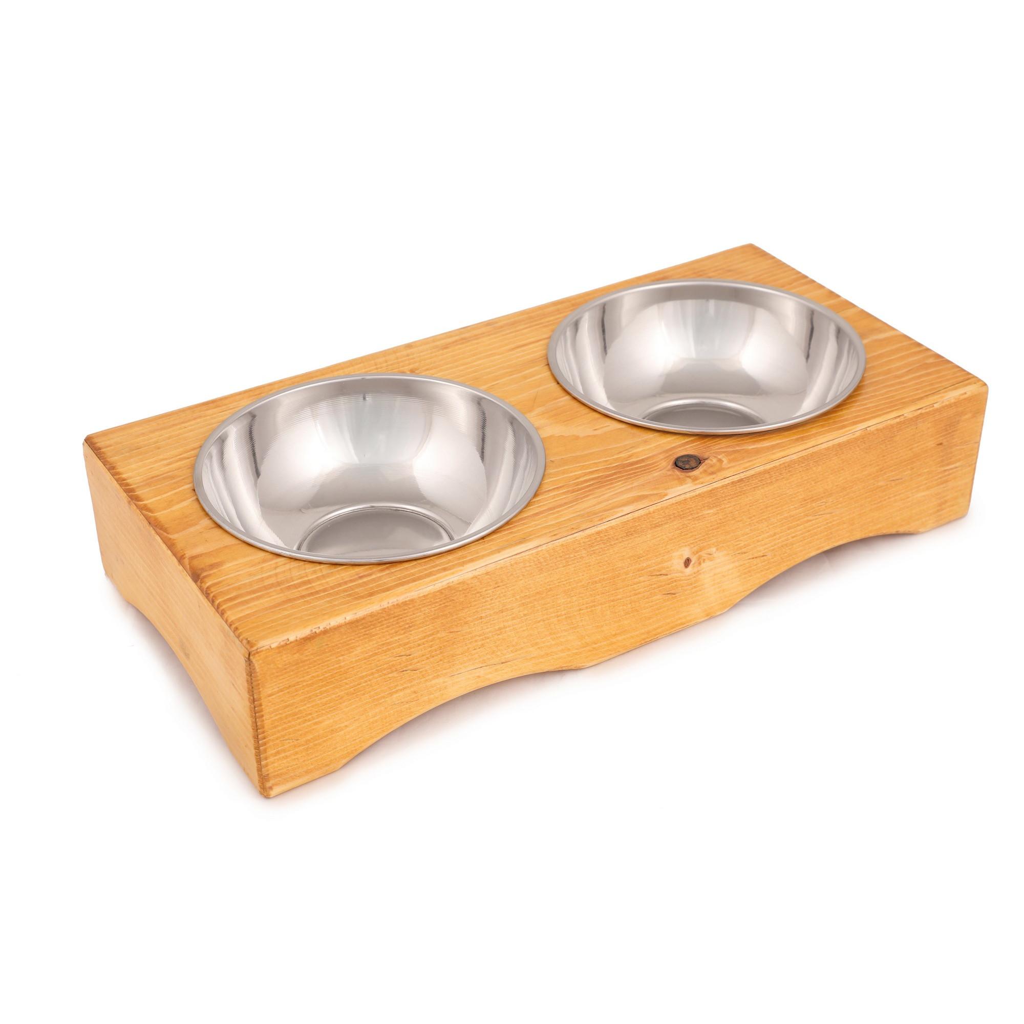 Tierfutter-Schüssel | Fichtenholz