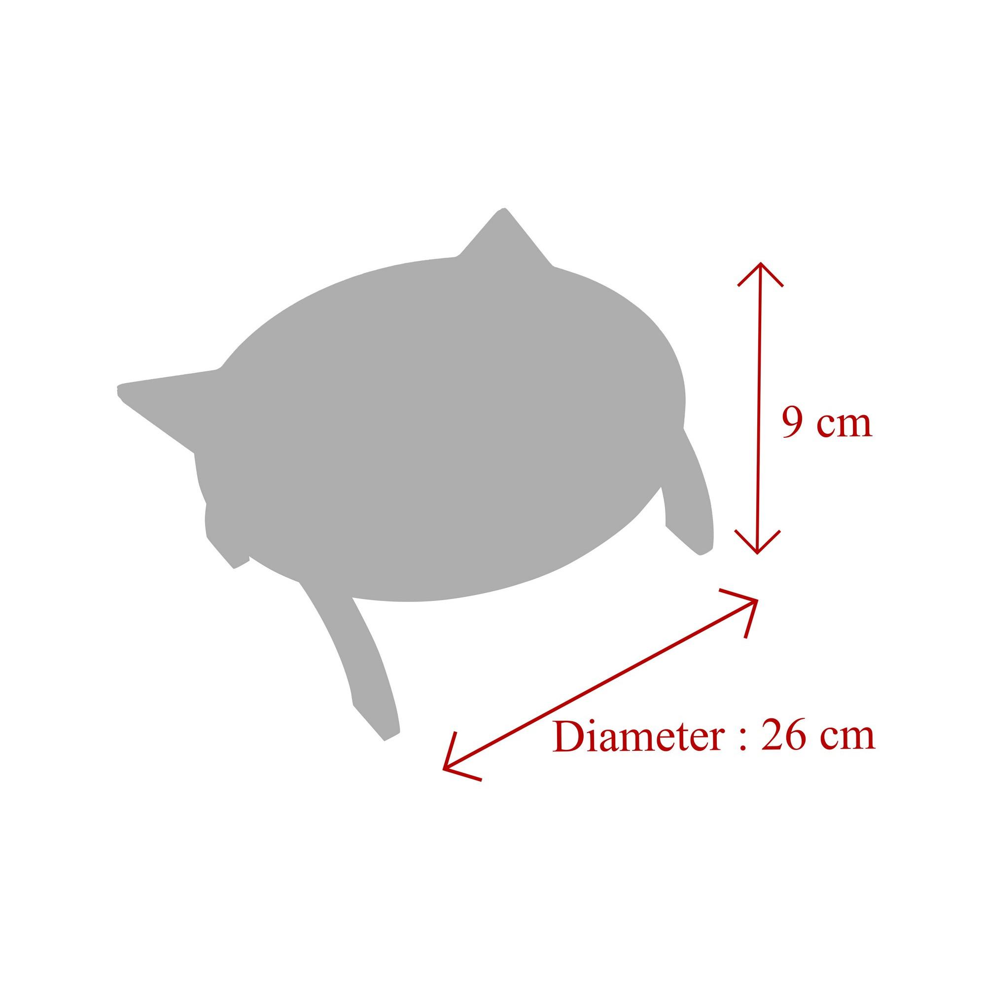 Tierfutter-Schüssel   Schwarz