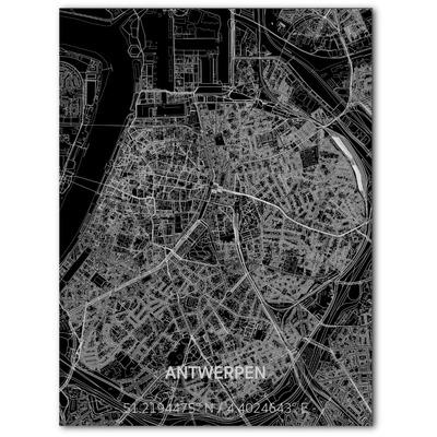 Metal Wall Decoration | City Map | Antwerp-100 x 80 cm