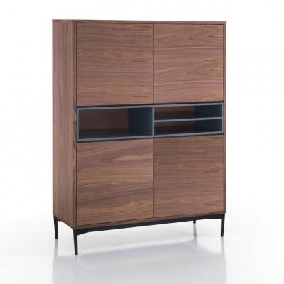 Sideboard 4 Türen Piet   Dunkles Holz
