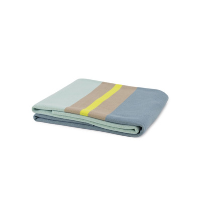 Knitted Cotton Blanket Menta | Multicolour
