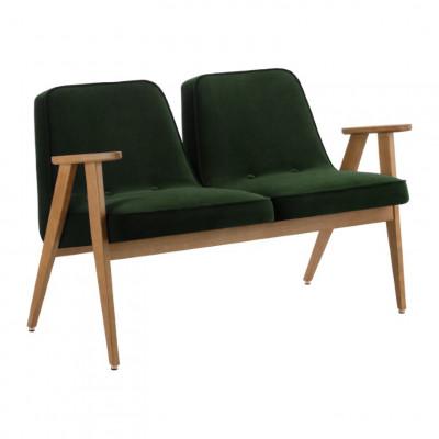 2-Sitzer-Sofa 366 Velvet| Grün