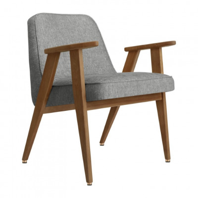 Sessel 366 Loft | Dunkle Eiche & Silber