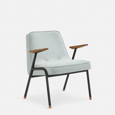 Sessel 366 Metall & Tweed | Mattschwarz / Mentos