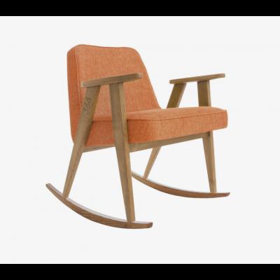 Rocking Chair 366 | Loft Mandarine Orange & Dunkle Eiche
