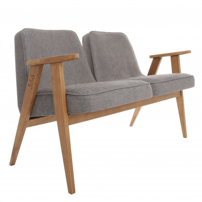 2-Sitzer-Sofa 366 Tweed | Grau