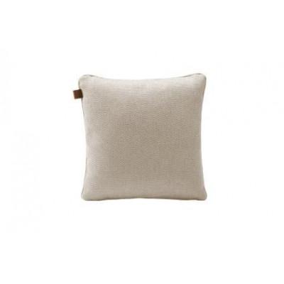 Tweed Quadratisches Kissen | Beige