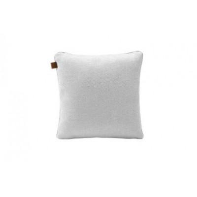 Tweed Quadratisches Kissen | Weiß