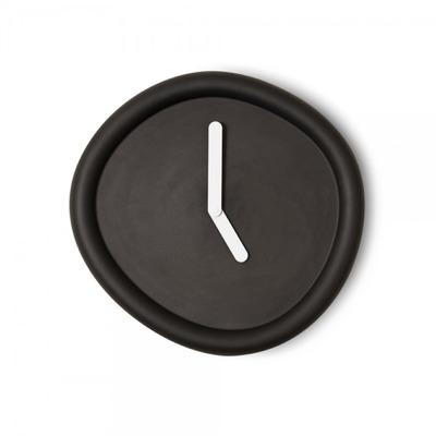 Runde Uhr   Schwarz