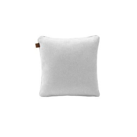 Tweed Vierkant Kussen   White