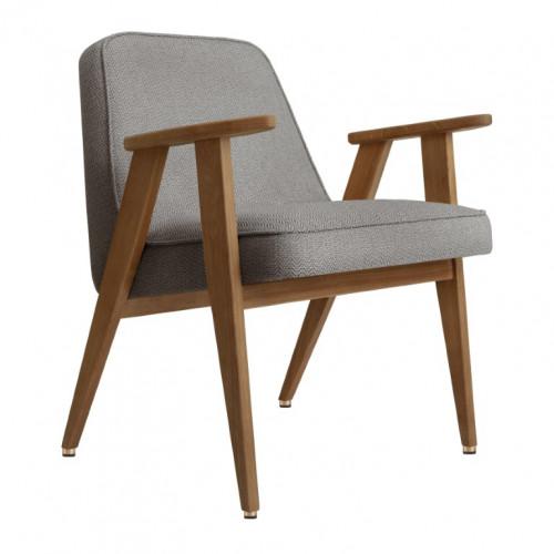 Sessel 366 Tweed | Dunkle Eiche & Grau