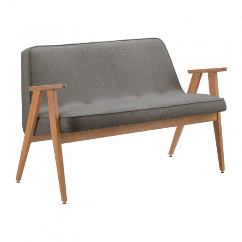 Sofa 366 Tweed | Eiche & Grau