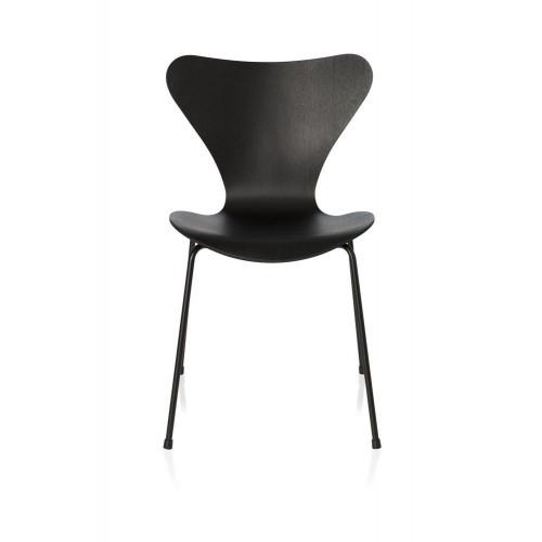 Serie 7 3107 Einfarbiger Stuhl | Schwarz