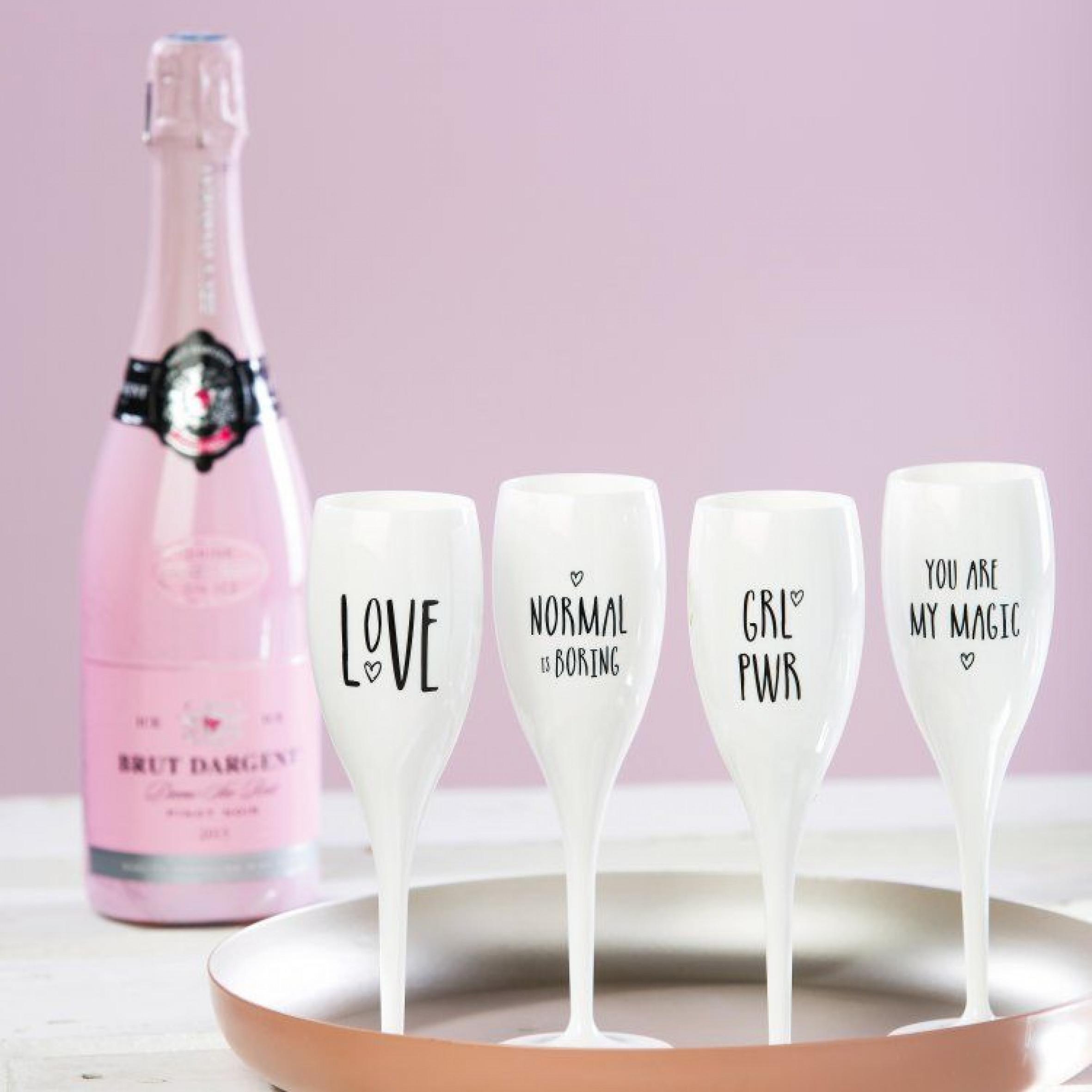 Champagnergläser Grl Pwr | 6er-Set