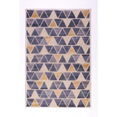 Teppich Essaouira | Beige / Gold / Blau