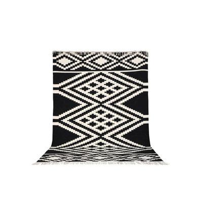 Teppich Indari 200x300 cm   Schwarz-Weiß