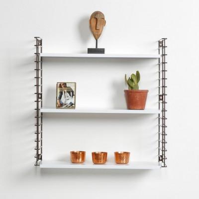Bücherregal | Bronze & Weiß