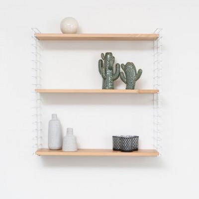Bücherregal | Weiß & Holz