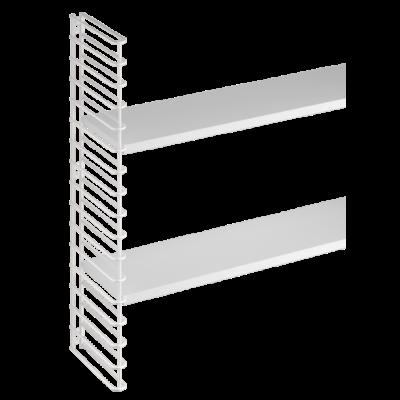 Wandregal Erweiterung 1 Rahmen & 2 Regale | Weiß
