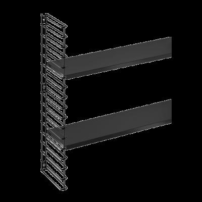 Wandregal Erweiterung 1 Rahmen & 2 Regale | Schwarz