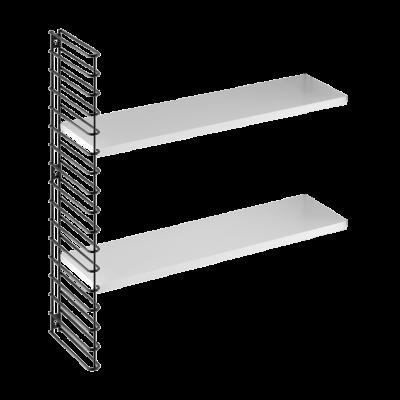 Wandregal Erweiterung 1 Rahmen & 2 Regale | Schwarz & Weiß