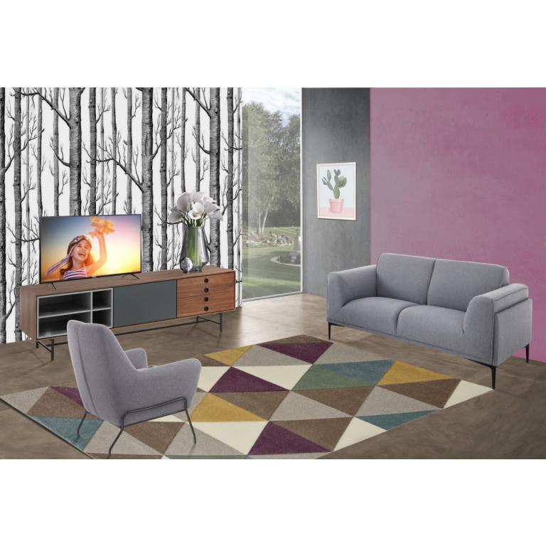 2 Seater Sofa Nadine | Grey