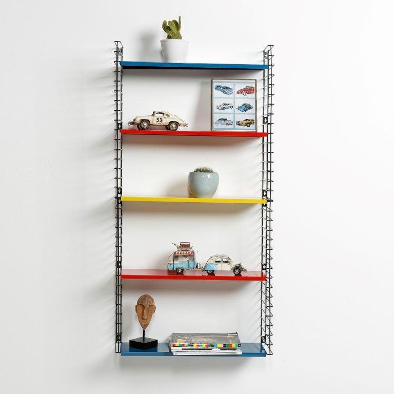 Book Shelf   Blue, Red & Yellow