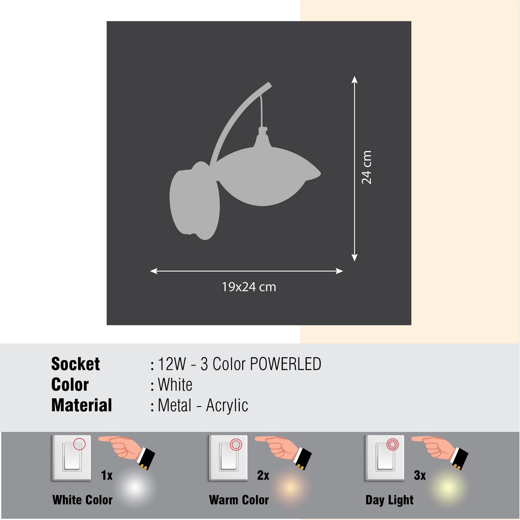Wandlampe Aplik | Weiß