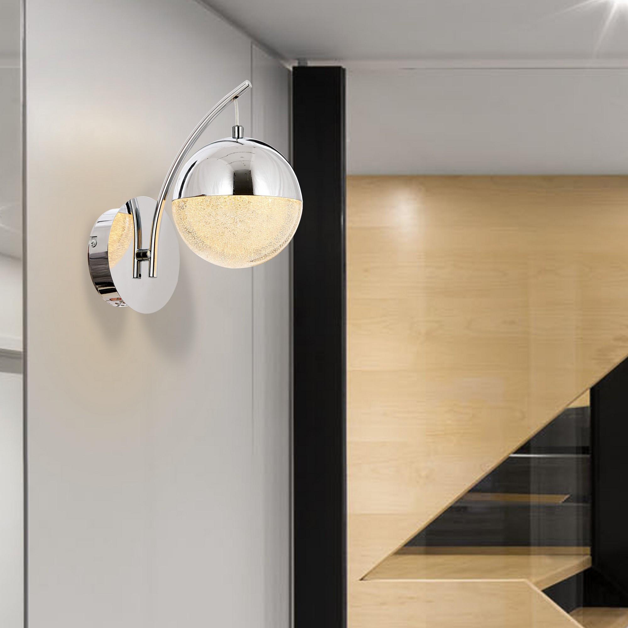 Wandlampe Aplik | Chrom