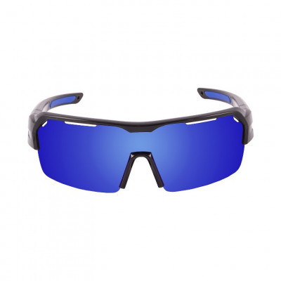 Fahrradbrille Race   Matt-Schwarzer Rahmen / Blaue Revo Linsen