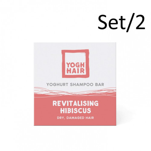 2er-Set Natürliche Joghurt-Shampoo Bars | Revitalisierender Hibiskus | Rosa