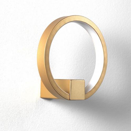 Ring Wandlampe | Gold