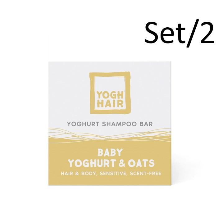 2er-Set Natürliche Joghurt-Shampoo Bars | Baby Joghurt & Hafer | Gelb