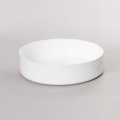 Niedrige Kasserolle ABCT - Ø 28 cm | Weiß