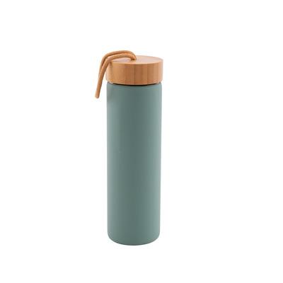 Glasflasche mit Silikonhülle 60 cl l Salbeigrün