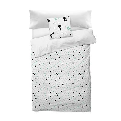 Bettbezug Alphabet Confetti I Weiß 155x220 + 110x45 cm