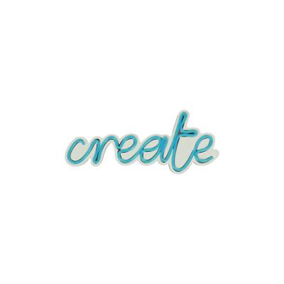 Neon Wandlampe Create | Blau