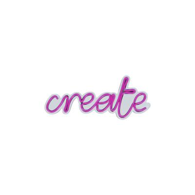 Neon Wandlampe Create | Pink
