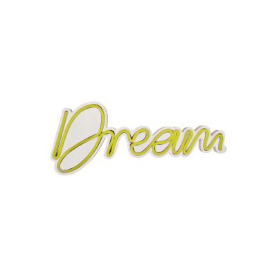 Neon Wandlampe Dream | Gelb