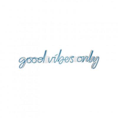 Neon Wandlampe Good Vibes Only | Blau