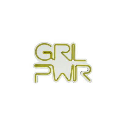 Neon Wandlampe Girl Power | Gelb