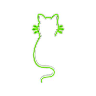 Neon Wandlampe Cat | Grün