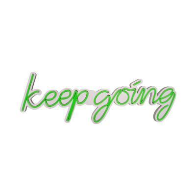 Neon Wandlampe Keep Going | Grün