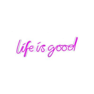 Neon Wandlampe Life Is Good | Pink