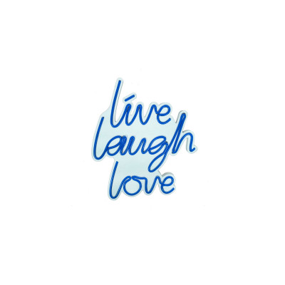 Neon Wandlampe Live Laugh Love | Blau